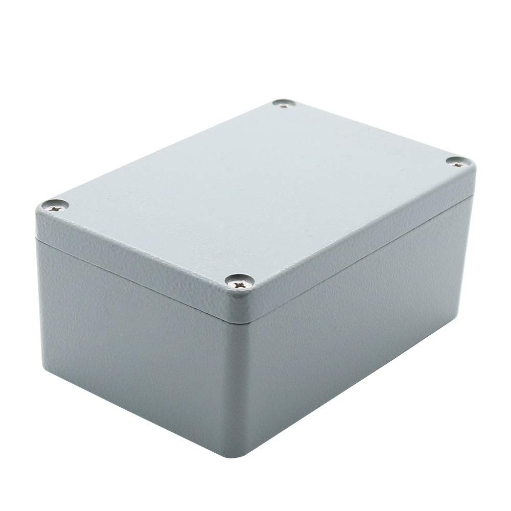 BestTong Aluminum Alloy Metal Junction Box, Dust-Proof Waterproof IP66 Industrial Electrical Enclosure Box - Universal Project Enclosure Grey 7.9 x 5.1 x 3.3 Inches(200mmx130mmx85mm)
