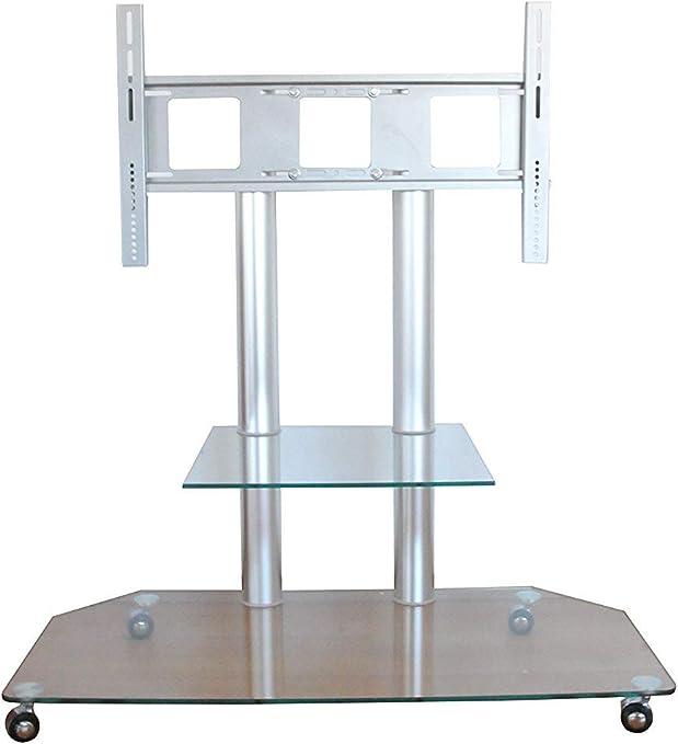 Tey 7573601 - Mesa Tv y Accesorios, Vidrio y Aluminio, Multicolor, 116x57x100 cm: Amazon.es: Hogar