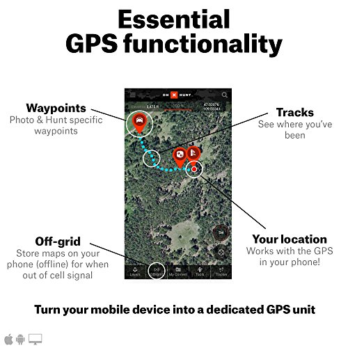 onX HUNT Premium: Digital Map Membership for Phone, Tablet, and Computer Color Coded Land Ownership 24k Topo Hunting Specific Data Updates For onX Hunt Chip