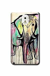 Canada Store DIY 3D MaCAeup Art Elephants Hard Phone Case for Samsung Galaxy Note 3
