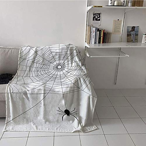 Gossamer Trim - Khaki home Children's Blanket Ultralight Lightweight E x tra Big (35 by 60 Inch,Spider Web,Complex Doodle Net Sticky Gossamer Hunting Insect Catch Danger Prey Spooky,Black White