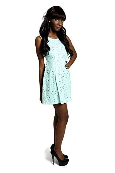 fadad72a94c1 Eyelet Babydoll Mint Green Dress at Amazon Women's Clothing store: