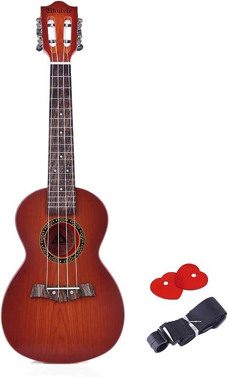 MRKE Ukelele Guitarra Niño para Principiantes 63CM 4 Cuerdas ...