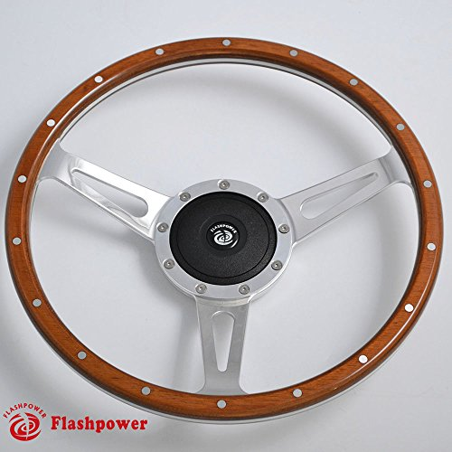 wood grain steering wheel Restoration Custom Hot rod street rod ()
