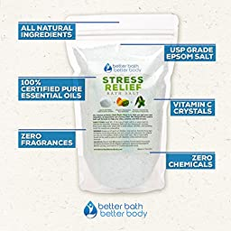 7-Pack Weight Loss Bath Salt Sampler Set - Free Priority Shipping - Set Of 7 One Pound Bath Soaks: Weight Loss, Detox, Stress Relief, Eucalyptus, Orange Ginger, Deep Relaxation, & Tranquility Soak
