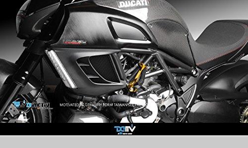 Dimotiv DMV フレームスライダーFrame Slider DUCATI DIAVEL 10-14 ブラック DI-FRS-DU-05-K   B019H23KP8