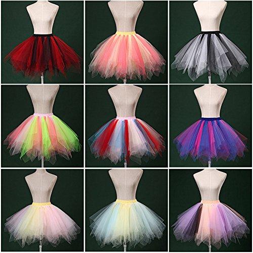 De Retro Falda Ballet Caramelo Skirt Princesa Realizando Corta Mini Color Baile Multicapa Multicolor Tutú Vestido Ropa A Mujeres Rockabilly qtxwOP4O