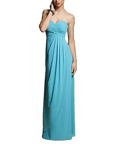 VaniaDress Women Ruffles Strapless Long Evening Bridesmaid Dress V282LF