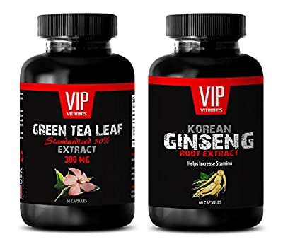 weight loss herbs - GREEN TEA - KOREAN GINSENG - COMBO - green tea diet pills - (2 Bottles Combo)