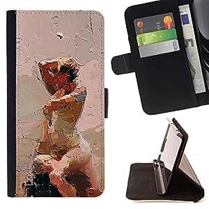 """For Samsung Galaxy E5 E500,S-type Ley Acuarela Pintura Arte"""" - Dibujo PU billetera de cuero Funda Case Caso de la piel de la bolsa protectora"""
