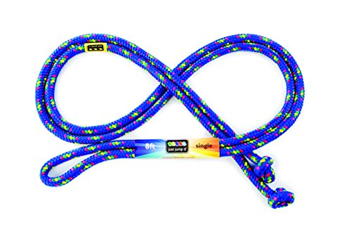 Just Jump It 8 Foot Single Jump Rope - Active Outdoor Youth Fitness - Blue Confetti