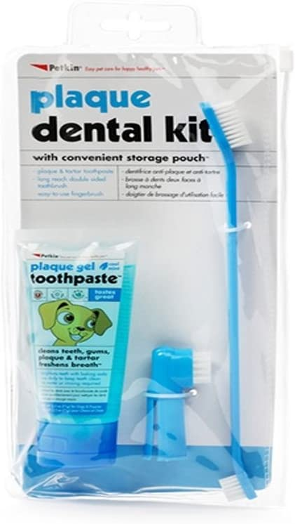 Petkin Plaque Dental Kit - Mint