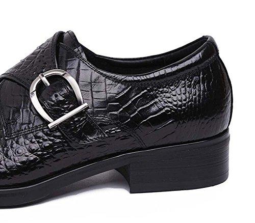 Scarpe Sposa Fibbia da con Lavoro per Europea Scarpe Uomo Scarpe in Moda da Rilievo Scarpe da nero Uomo Edizione rTqgrC