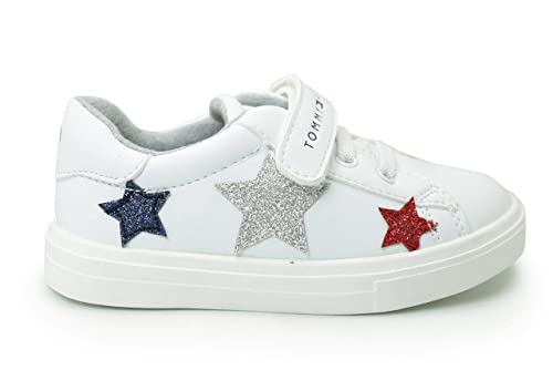 0ea9ddee984650 Amazon.com  Tommy Hilfiger T1A4-30289-0619 White Eco Leather Infant  Trainers Shoes  Shoes
