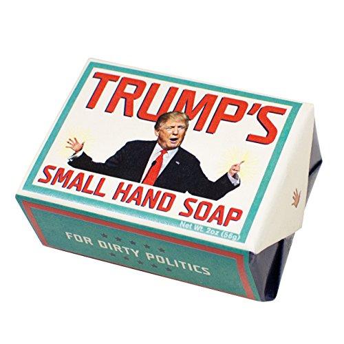 Trump's Small Hands Soap - Republican and Democrat - 1 Mini Bar of Soap - Made in The USA