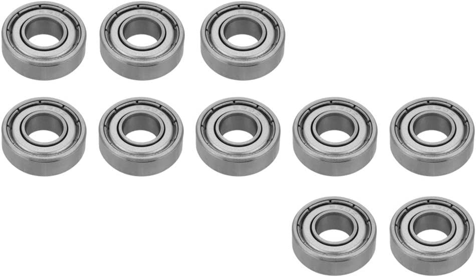 Steel Bearing Deep Groove Race Durable for Small Hobby 8Mm Shaft//Rod Project Low Noise Miniature Bearing