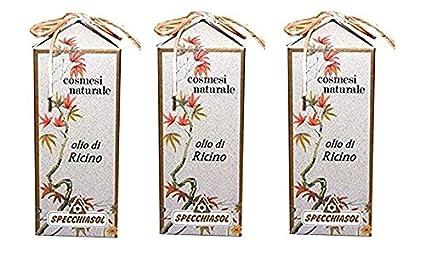 Specchiasol – Aceite de Ricino uso cosmetico 3 paquetes de 100 ml ristrutturante pelo y pestañas