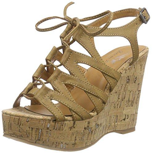 Fritzi aus Preußen Wh1678301, Women's Wedge Heel Platform Sandals Brown - Braun (Nut-sh)