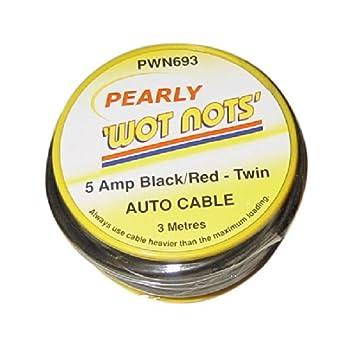Pearl Verkabelung Kabel Twin 5 Amp X 3 MTR rot/schwarz KFZ Wartung ...