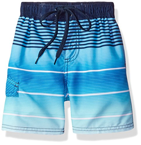Kanu Surf Toddler Boys' Echelon Stripe Quick Dry Beach Board Shorts Swim Trunk, Navy, 2T (Boardshort Boys Toddler)