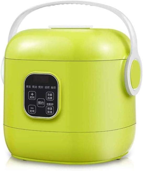 Xiaoyue Mini Cocina de arroz, Cocina eléctrica multifunción sartén Wok eléctrico Hot Pot for el Cocinero Granos y harina de Avena lalay