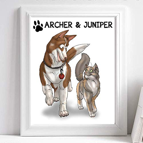 (Personalized Pet Portrait - Cute Dog Lover Gifts - Funny Creative Ideas For Best Friend Birthday )