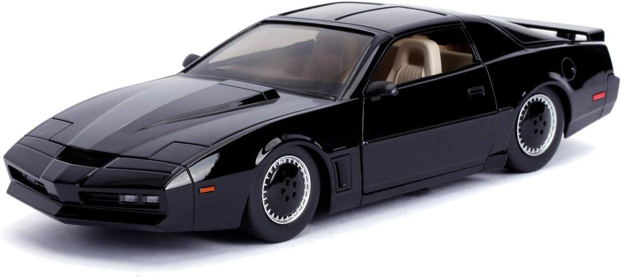 Jada Toys 253255000 Knight Rider K I T T 1982 Pontiac Trans Am Modellauto 1 24 Mit Lauflicht Detail Innenraum Türen Und Motorhaube Zum öffnen Schwarz Amazon De Spielzeug