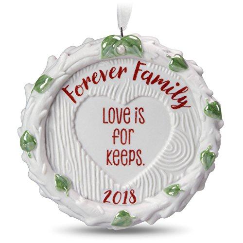 Hallmark Keepsake Christmas Ornament 2018 Year Dated, Forever Family, Porcelain -
