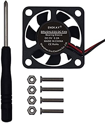 Enokay DC 5V 0 2A 30mm×30mm×10mm Cooling Fan for Raspberry Pi 2/Pi 3 Case