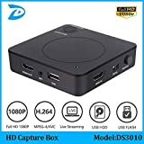 HD Capture Box -HD Game Video Capture 1080P HDMI Recorder for Xbox One/360 PS3 /PS4 with One Click No PC Enquired No Any Set-up