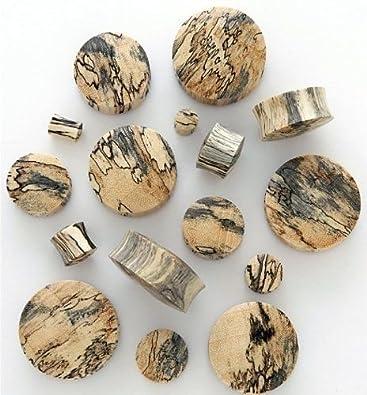 Organic Tamarind Wood Plugs/Tunnels/Gauges 2 Piece (1 Pair) (B/102) Pashoshka