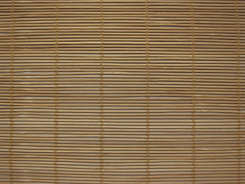 Cordless Woven Wood Roman Shades, 24W x 36H, Bayhead Natural, Any Size 20-72 Wide and 24-72 High ()
