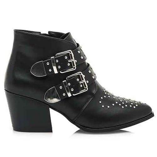 Botines Maria Mare 62189 Negro - Color - Negro, Talla - 39: Amazon.es: Zapatos y complementos
