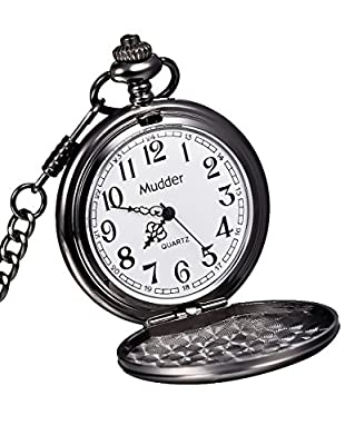 Mudder Classic Smooth Vintage Steel Mens Pocket Watch Xmas Gift by Mudder