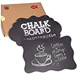 2 Pack Hanging Chalkboard Sign, Large Fancy 2 Design Message Board with Hanging Jute String, Double Sided Rustic Vintage Label for Kitchen, Pantry, Shops, Wedding, Party, and Craft Erasable Decoration