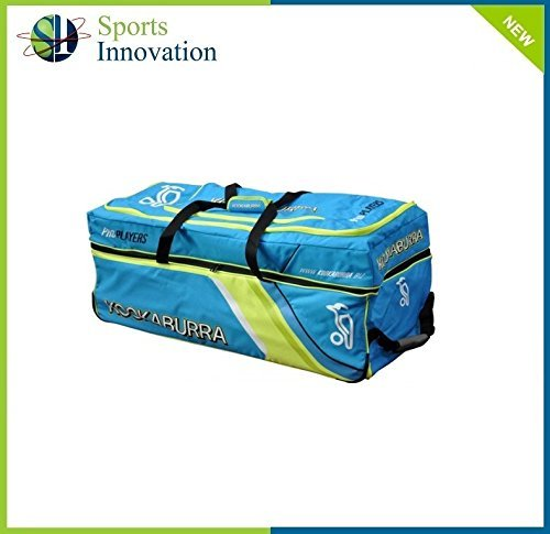 Kookaburra Pro Players Wheelie Cricket Bag 2015 Blue/Green by Kookaburra by Kookaburra
