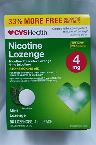 Lozenge, Stop Smoking Aid, 96 Mint Lozenges (4 mg Nicotine Each) ()