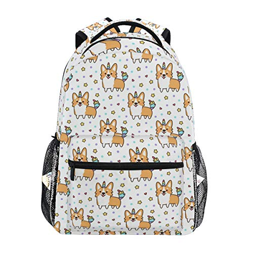 - Wamika Welsh Corgi Dog Unicorn Backpacks for Women Men, Dogs Design Computer Laptop Backpack, Casual Book Bag Travel Camping Daypack