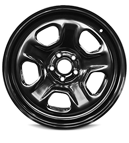 Road Ready Car Wheel For 2013-2019 Ford Taurus Ford Explorer 18 Inch 5 Lug Black Steel Rim Fits R18 Tire - Exact OEM Replacement - Full-Size Spare