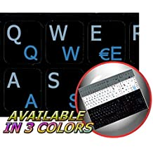 ITALIAN - ENGLISH NOTEBOOK NON-TRANSPARENT KEYBOARD STICKERS BLACK BACKGROUND