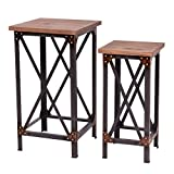 Product review for Giantex Set of 2 End Table Set Side Table Coffee Night Stand Accent Hallway Display