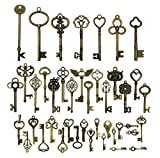 42pcs Mixed Vintage Skeleton Keys, Salome Idea 42 Styles Key for Alice in ...