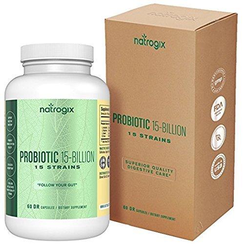 15 Strains 15 Billion CFU Probiotics by Natrogi...