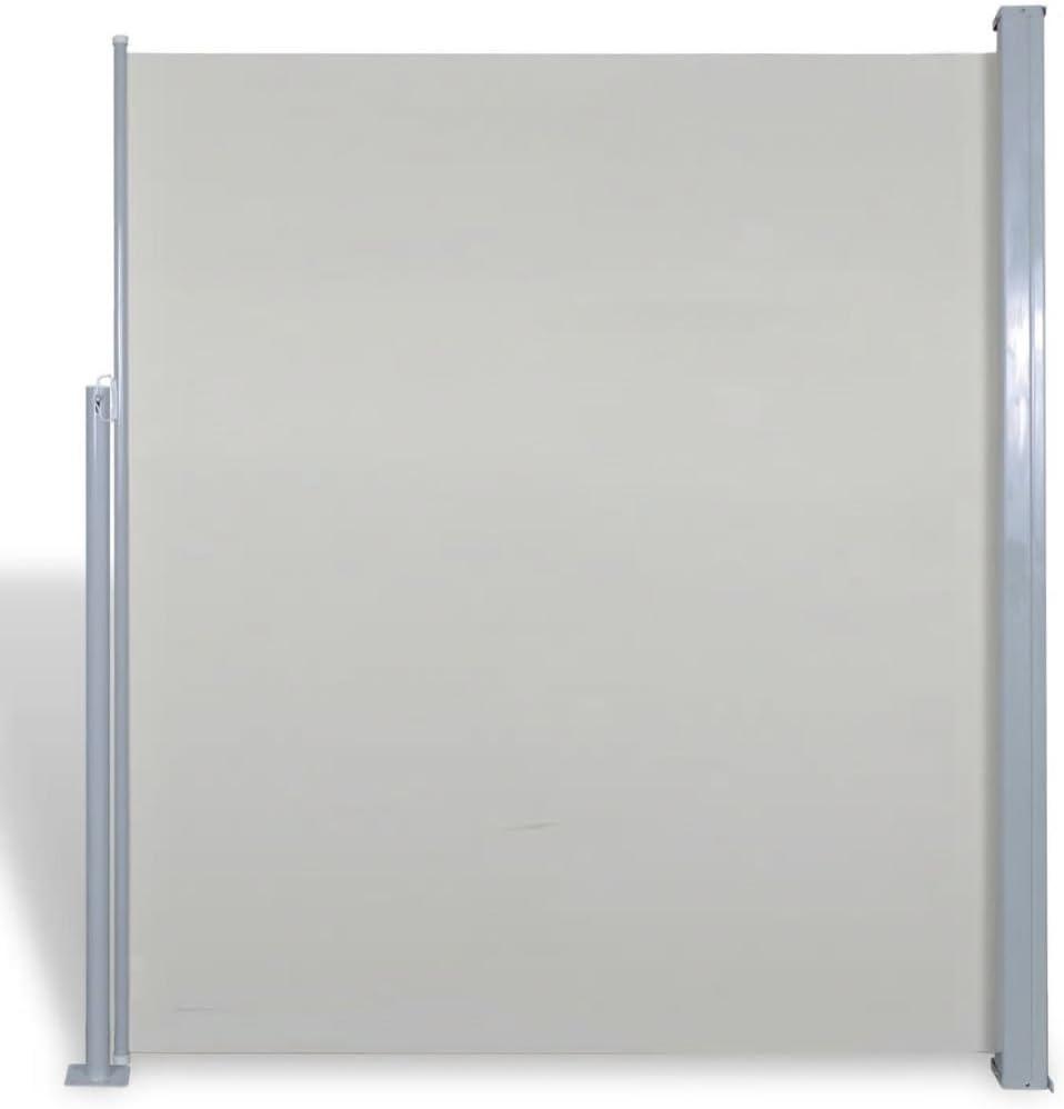 Vislone Cortina Paravientos Lateral Enrollable de terraza Exterior 180 x 300 cm Crema: Amazon.es: Hogar