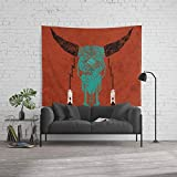Society6 Wall Tapestry, Size Large: 88'' x 104'', Southwest Skull by verreaux