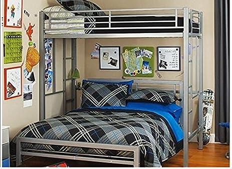 Amazon Com Twin Over Full Bunk Bed Kids Loft Beds Childrens Metal