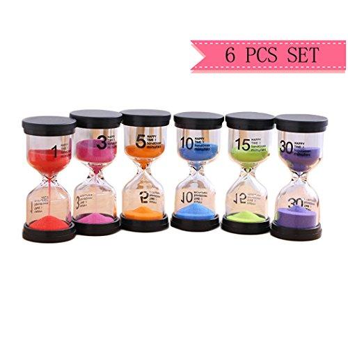 Medigy Sand Clocks Timer for Kids Sand Glasses Best Gift for Children One Set Includes 1 min,3min, 5min, 10min 15min 30min Sand Clock Best Seller