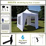 10'x10' Fire Retardant Pop up Canopy Wedding Party Tent Gazebo EZ White - F Model Commercial Frame By DELTA Canopies