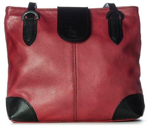 Hobo Bag Cm Nero Per Tipo Donne Bhbs Medio Rosso Dettaglio lxaxp 26x23x8 Pelle Le In Vera gd4qxap