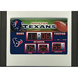 Houston Texans Scoreboard Desk & Alarm Clock - Licensed NFL Football Merchandise